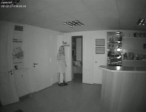 Dome Überwachungskamera Test bei Nacht